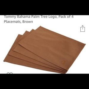 Tommy Bahamas palm tree logo brown table placemats